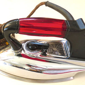 Vintage electric American Beauty iron red lucite